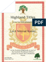 Lord Nimrod Kämer, 3rd Laird of Glencoe, Scotland