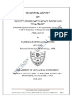 Specimen Technical Report TCM
