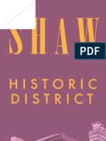 Shaw Historic District Brochure (DC Office of Planning, 2008)
