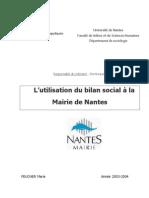 Utilisation Bilan Social Mairie Nantes Feucher Pecaud Chsct