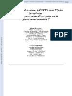 application des normes IAS:IFRS dans l'UE