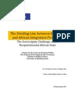 Tedla Europe&Africa Integration Dividing Line