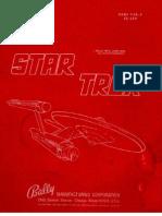 Bally 1979 Star Trek Manual
