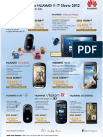 Huawei IT Show 2012 flyers