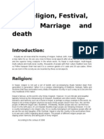 Religion Festival Birth Marriage and Death