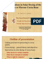 Innovations in Solar Drying of the Fine or Flavour Cocoa Bean - Sukha 2009