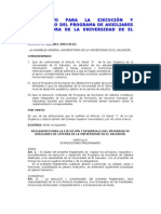 Reglamento de Auxiliares de Catedra