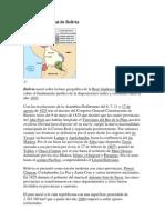 Historia Territorial de Bolivia