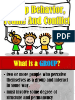 Group Behavior, Teams and Conflict