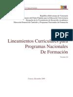 Orientacion a Los Programas Nacionales de Formacion