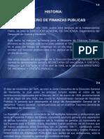 Historia Ministerio Finanzas