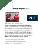 VALORES MAYAS