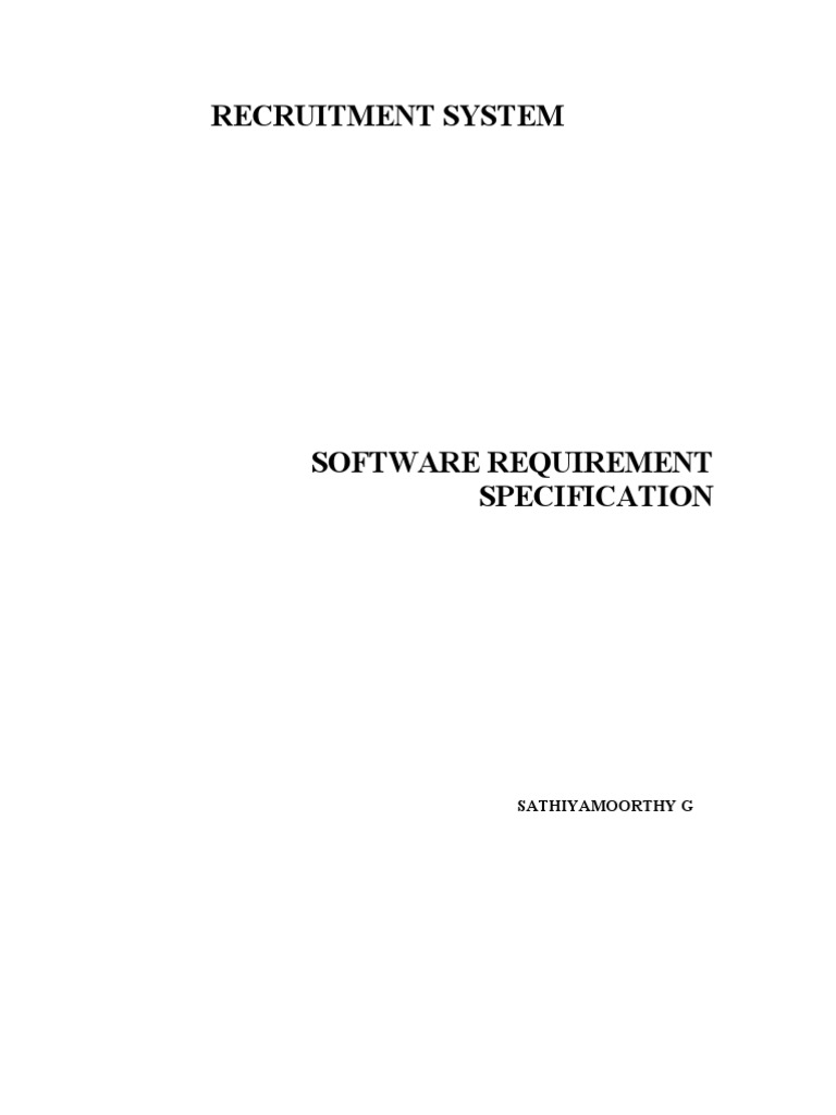 Srs for recruitment system recruitment operating system ccuart Gallery