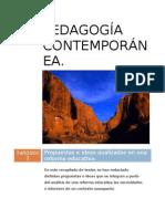 Pedagogía contemporánea-reformas educativas, comentarios-