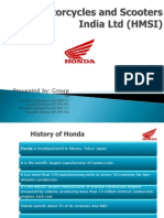 Honda Motorcycles and Scooters India Ltd HMSI