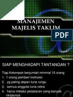 2.Manajemen Majelis Ta'Lim