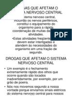 Drogas Sistema Nervoso Slides