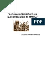 JUICIOS ORALES EN MÉXICO, PARA QUE LA JUSTICIA SE ESCUCHE
