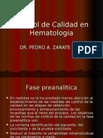 Control de Calidad en Hematologia Fase Preanalitica(1)