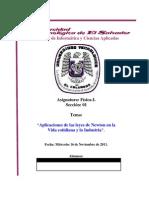 Investigacion - Fisica I - Aplicaciones de Las Leyes de Newton - Scribd