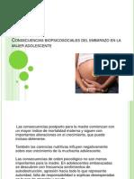 Consecuencias Biopsicosociales Del Embarazo en La Mujer Adolescente..