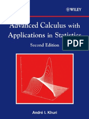 Advanced Calculus With Applications in Statistics | Series