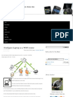 Configure Laptop as a WIFI Router ~ Tech Guru