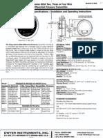 3a-V Pressure Transmitter Manual