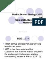 Pertemuan 1, Market Driven Strategy