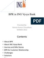 BPR in ING Vysya Bank