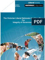 Coalition's Integrity of Government Policy 2010 Election