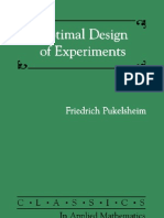 Pukelsheim Optimal DoE