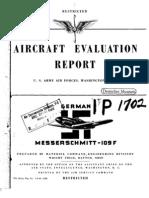 Bf 109f Evaluation