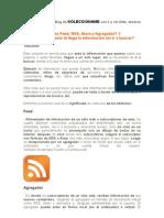 Feed, RSS, Atom, Agregador ¿Que son? ¿Como se utilizan?