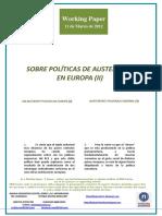 SOBRE POLÍTICAS DE AUSTERIDAD EN EUROPA II (Es) ON AUSTERITY POLICY IN EUROPE II (Es) AUSTERITATE POLITIKAZ EUROPAN II (Es)