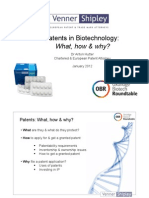 Patents in Biotechnology