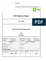BTC Construction Phase ESAP Annex D.6 Health and Safety Management Plan