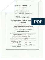 Written Assignment ADVCOMEWP11 Effective Workplace Practices - Nelly Tankov # 00061538T