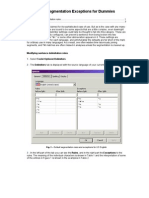 DVX Segmentation Exceptions for Dummies