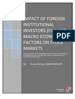 IMPACT OF FOREIGN INSTITUTIONAL INVESTORS (FIIs) AND MACRO ECONOMIC FACTORS ON INDIAN STOCK MARKETS
