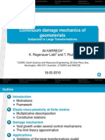 CDM of Geomaterials Subj to Large Transformations