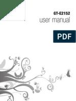 User Manual Samsung GT E2152