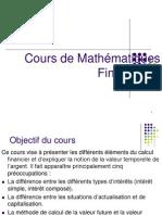 diapoCours de Mathématiques Financières