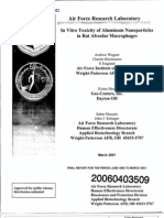 USAF Study of Toxicity of Nano-particles of Aluminum