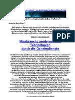 Strahlenterror - Deutsche Betroffene Teil 7 Strahlenfolter