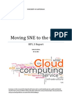 Rp1i3 Report Moving Sne to the Cloud