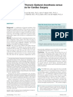 Meta Analysis of Thoracic Epidural Anesthesia.15 (1)
