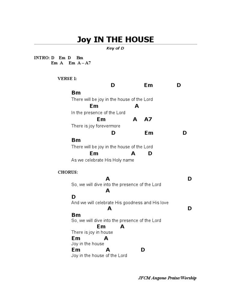 Joy In The House D