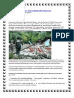 Inilah Daftar Gempa Bumi Dahsyat 2004
