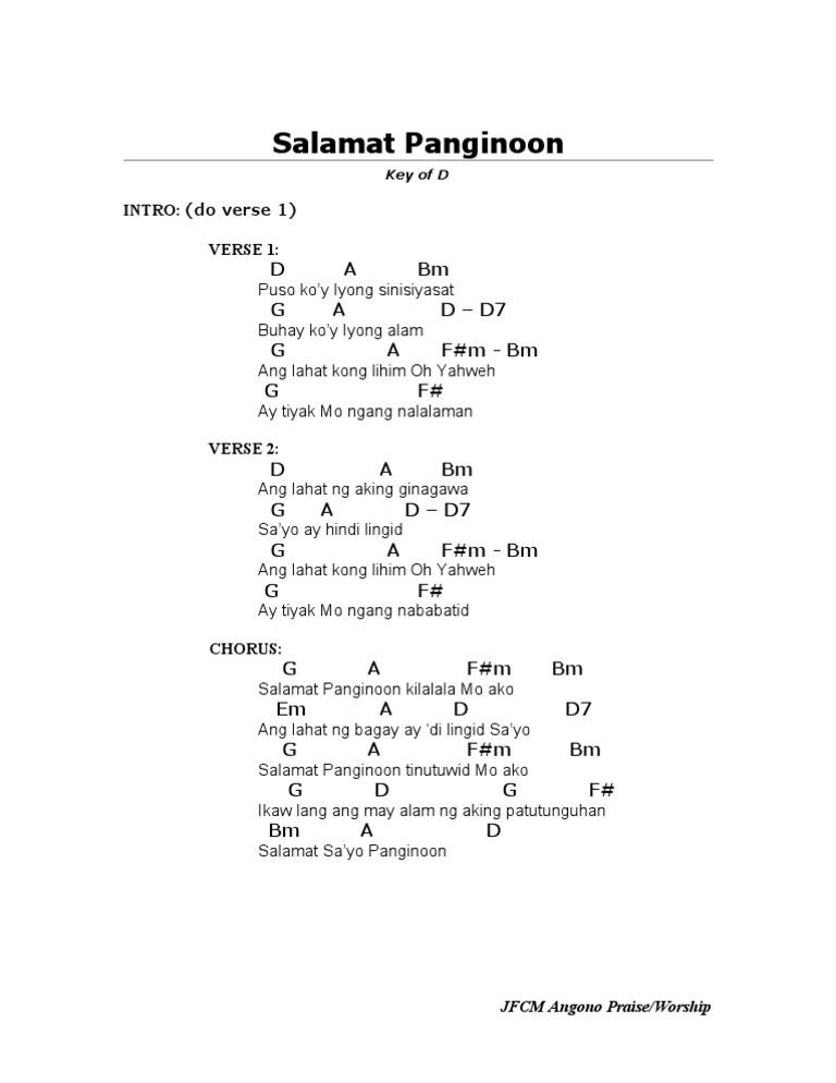 Salamat Panginoon D